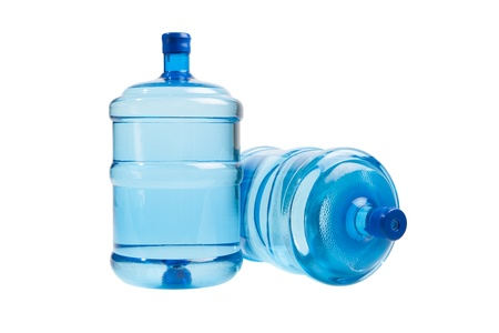 water can: big bottles of water for delivery, isolated on white