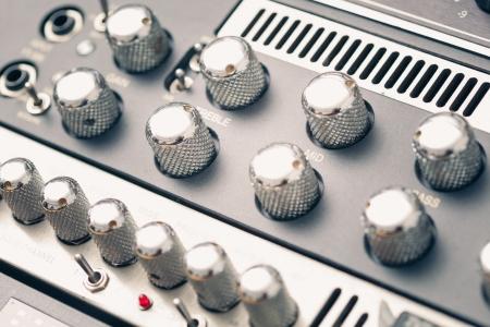 vintage studio mixer knobs photo