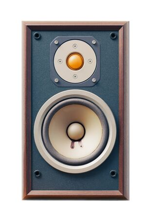 studio monitor speaker isolated on white photo