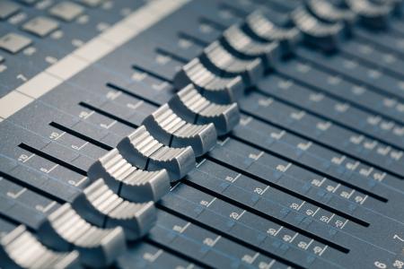 digital studio mixer faders photo