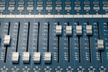 digital studio mixer faders photo