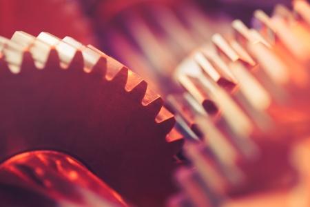 engrenages: roues dent�es close-up
