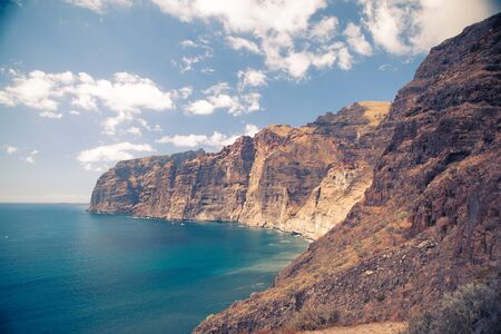 crag: Los Gigantes, Tenerife Island Stock Photo