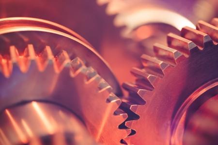 interlock: gear wheels close-up