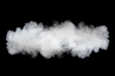 steam jet: smoke cloud background on black