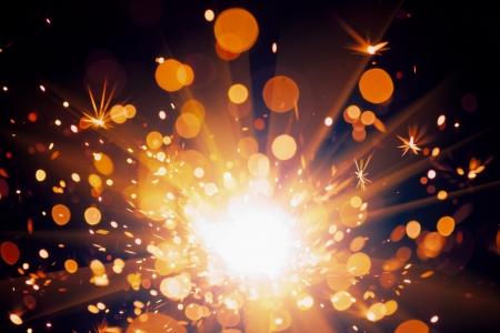 nouvel an: fond fête des étincelles Banque d'images
