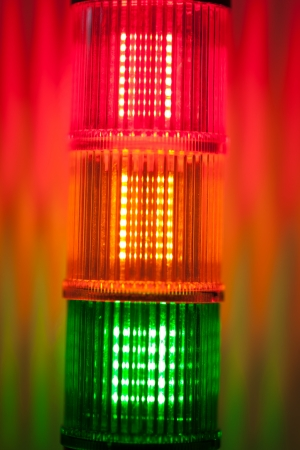 column of signal lights photo