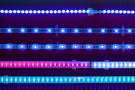 blue led light tapes photo
