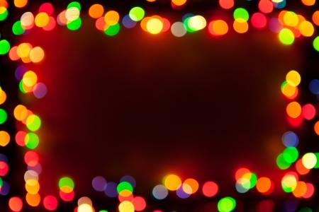 colorful lights: bokeh lights frame