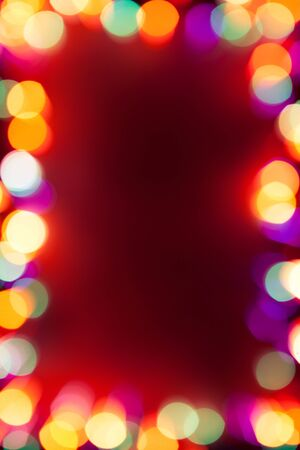 vertical frame with bokeh lights photo