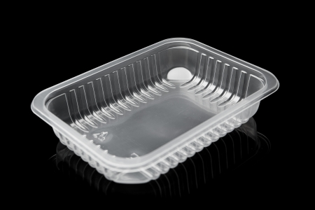 plastic container isolated on black Stock Photo - 16530411