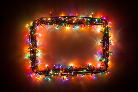 christmas lights frame photo