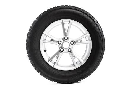alloy: winter wheel isolated on white Stock Photo