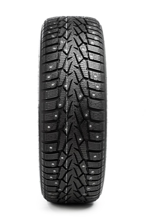winter tyre: winter tire isolated on white