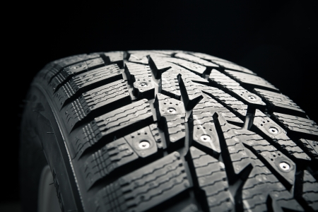 protector of winter tire, close-up view Stock Photo - 16898726