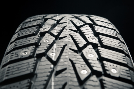 protector of winter tire, close-up view Stock Photo - 17036058