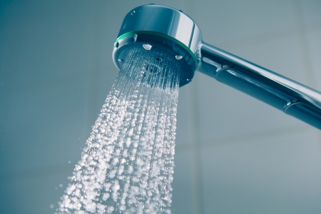 shower with water stream