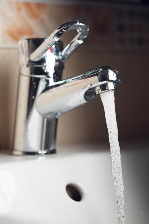hot water tap: water tap
