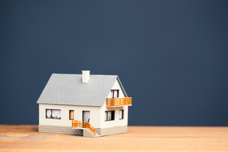 classic house model on blue with copy-space Stock Photo - 18543419