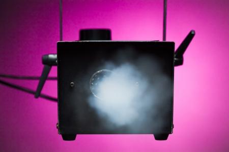 emit: smoke machine in action