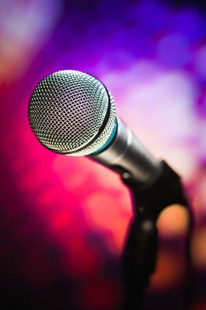 microfono radio: micr?o contra el fondo p?ra