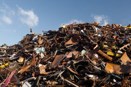 junkyard: mont�n de chatarra de metal