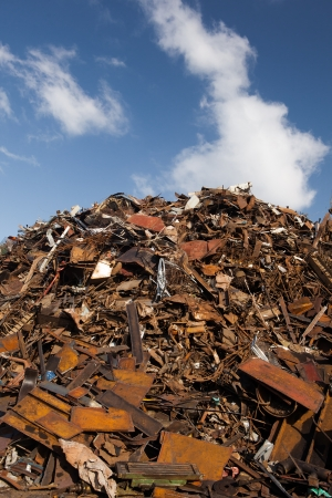 scrap metal heap Stock Photo - 19698528