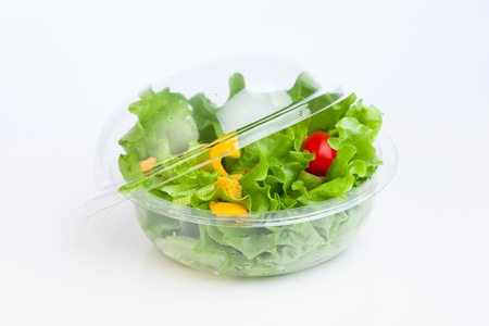 fresh vegetables salad in plastic container Фото со стока - 20194945