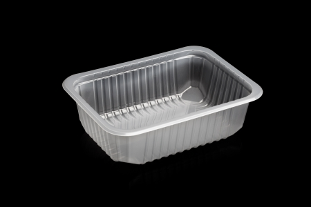plastic box: plastic container isolated on black