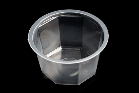 plastic container isolated on black Stock Photo - 20194941