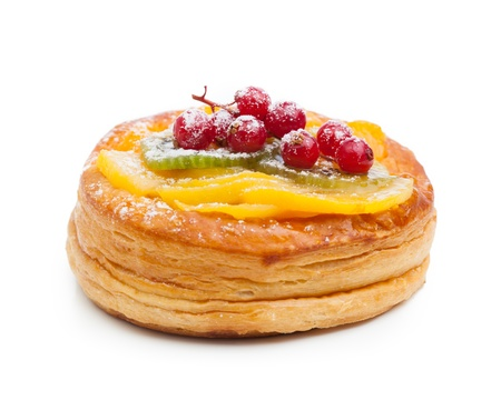 pastry: beautiful pastry cake, isolated on white