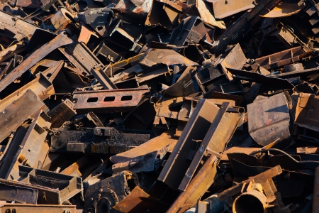 discarded metal: scrap metal, close-up view Stock Photo