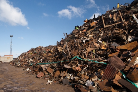 scrap metal heap Stock Photo - 20363493