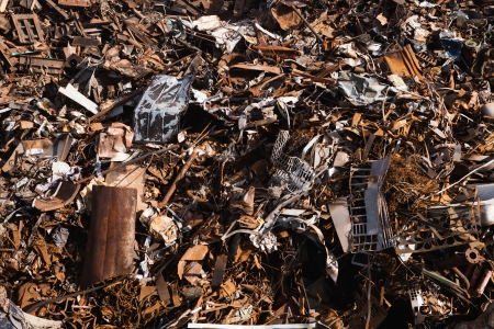 discarded metal: scrap metal background
