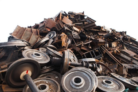 recycled train wheels Stock Photo - 20363491