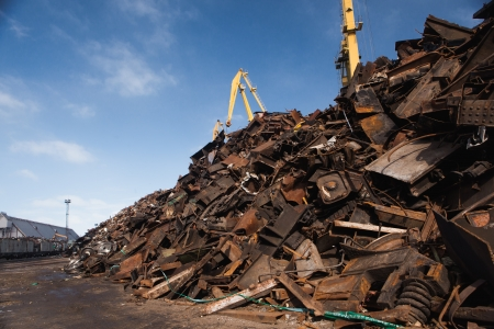 discarded metal: scrap metal heap Stock Photo