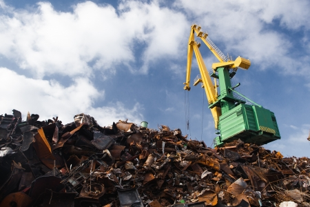 scrap heap: scrap metal loading