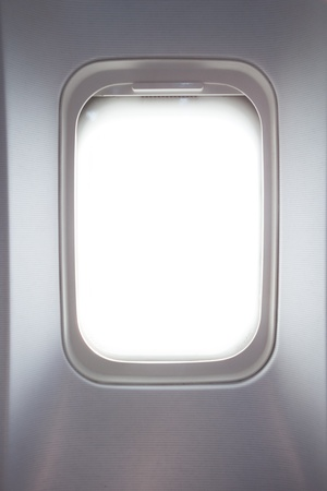 illuminator: side window in airplane Stock Photo