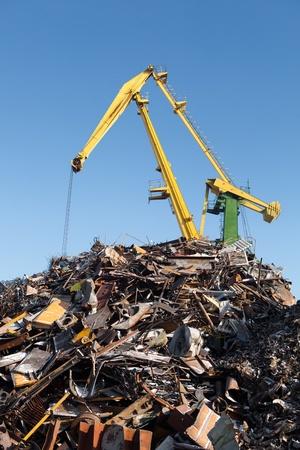 scrap metal loading Stock Photo - 21539199
