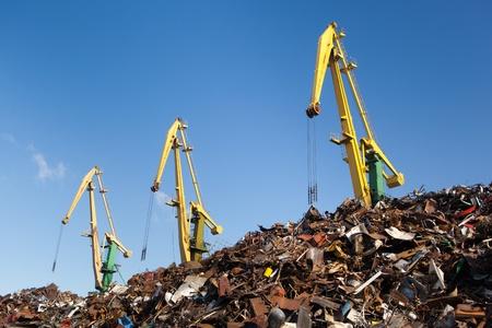 recycling center: scrap metal loading