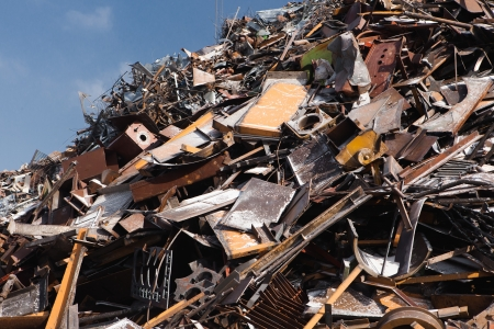 scrap metal heap Stock Photo - 21539375
