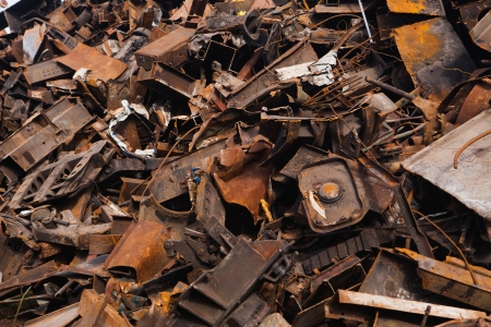 scrap metal heap Stock Photo - 21539401