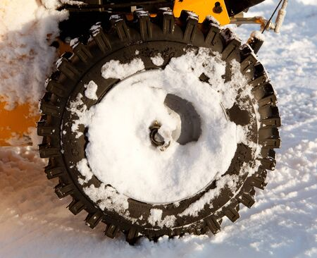 winter tire with snow Stock Photo - 21539666