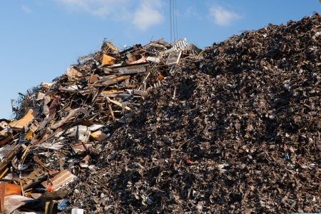 scrap metal heap Stock Photo - 21539718