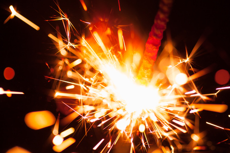 colorful christmas sparkler photo