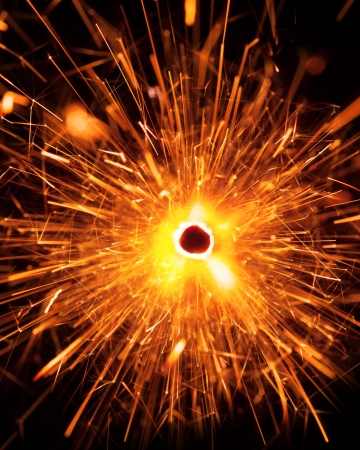 massive christmas sparkler, top view photo