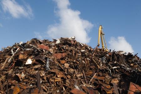 recycling center: scrap metal heap Stock Photo