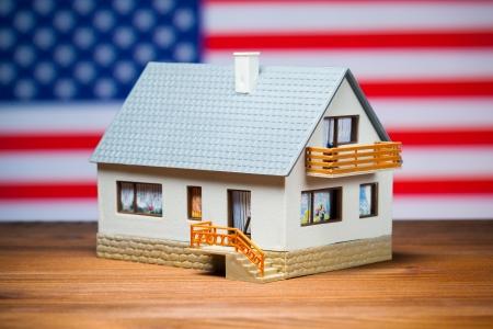 american dream: usa house concept