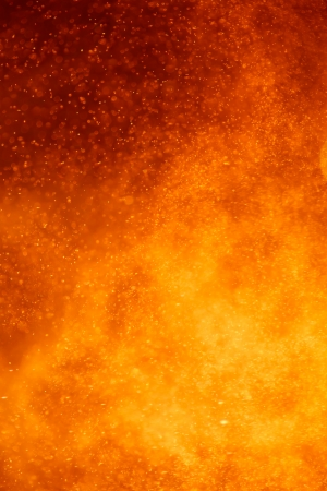 abstract closeup view of an volcano eruption photo