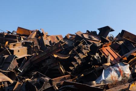 scrap metal heap Stock Photo